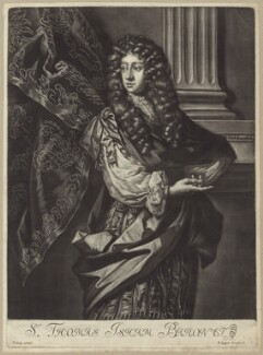 Sir Thomas Isham, Bt, after Sir Peter Lely, published by  David Loggan - NPG D29956