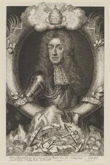 King James II, by George Vertue, after  Sir Godfrey Kneller, Bt - NPG D32727