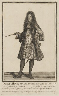King James II, published by Henri Bonnart, and published by  Nicoló Billy, after  Unknown artist - NPG D32729