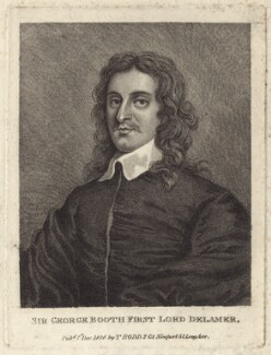 George Booth, 1st Baron Delamer, published by Thomas Rodd the Elder - NPG D29971