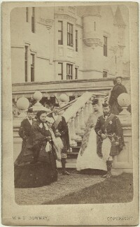 Royal group at Balmoral, by W. & D. Downey, 25 May 1868 - NPG x3610 - © National Portrait Gallery, London