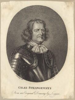 Giles Strangeways, by R. Clamp, after  David Loggan - NPG D29974