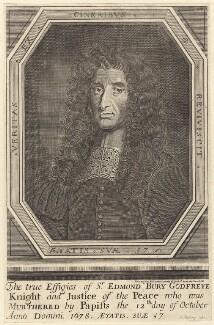 Sir Edmund Berry Godfrey, by Frederick Hendrik van Hove, published by  Joseph Nutting - NPG D29978
