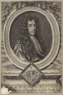 Thomas Thynne, by and published by Robert White, after  Sir Godfrey Kneller, Bt - NPG D29981