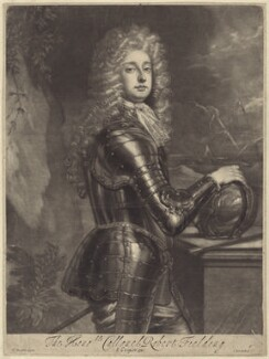 Robert ('Beau') Feilding, by Isaac Beckett, after  Sir Godfrey Kneller, Bt, published by  Edward Cooper - NPG D29987