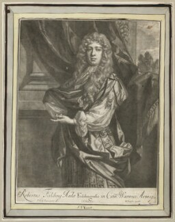 Robert ('Beau') Feilding, by Jan van der Vaart, after  Sir Peter Lely, published by  Richard Tompson - NPG D29988