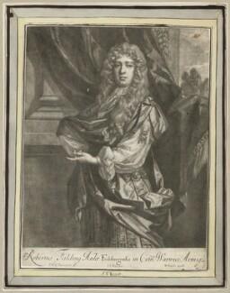 Robert ('Beau') Feilding, by Jan van der Vaart, after  Sir Peter Lely, published by  Richard Tompson - NPG D29988