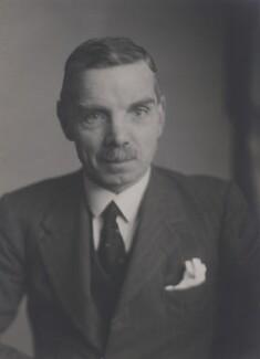 Sir (Gerard) Edward James Gent, by Walter Stoneman - NPG x166887