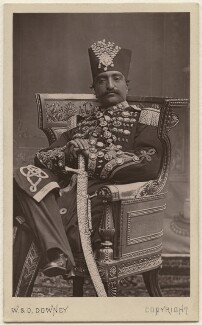 Nasser al-Din, Shah of Persia, by W. & D. Downey - NPG Ax38451
