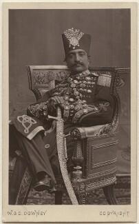 Nasser al-Din, Shah of Persia, by W. & D. Downey - NPG Ax38450