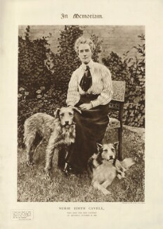 Edith Cavell with Don and Jack, after Unknown photographer - NPG D32742