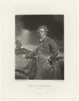 Lord Richard Cavendish, by Samuel William Reynolds, after  Sir Joshua Reynolds - NPG D32745