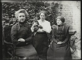 Margaret Livingston; Mrs Albert Broom (Christina Livingston) and an unknown woman, possibly by Winifred Margaret Broom - NPG x131434