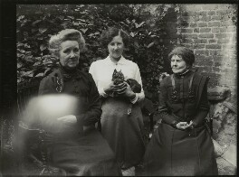 Margaret Livingston; Winifred Margaret Broom and an unknown woman, possibly by Mrs Albert Broom (Christina Livingston) - NPG x131435
