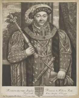 King Henry VIII, by John Faber Sr, after  Hans Holbein the Younger - NPG D30031