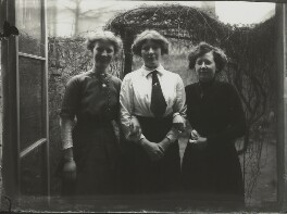 Winifred Margaret Broom with two others, possibly by Mrs Albert Broom (Christina Livingston) - NPG x131440