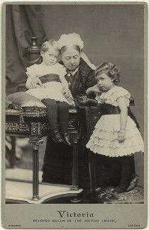 Prince Arthur of Connaught; Queen Victoria; Margaret, Crown Princess of Sweden, by Alexander Bassano, 26 November 1885 - NPG x21185 - © National Portrait Gallery, London