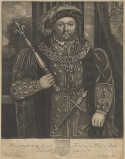 King Henry VIII, by John Faber Sr, after  Hans Holbein the Younger - NPG D30032