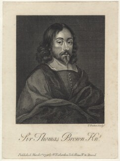 Sir Thomas Browne, by Thomas Trotter, published by  William Richardson, published 1798 - NPG D30049 - © National Portrait Gallery, London