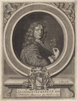 Leonard Plukenet, by John Collins - NPG D30060