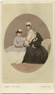 Princess Alice, Grand Duchess of Hesse; Queen Alexandra; Queen Victoria, by (Cornelius) Jabez Hughes - NPG Ax46783
