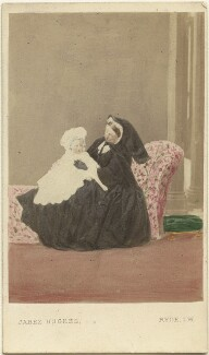 Prince Albert Victor, Duke of Clarence and Avondale; Queen Victoria, by (Cornelius) Jabez Hughes - NPG Ax46727