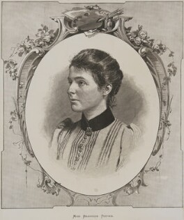 'Miss Beatrice Potter' (Beatrice Webb), after Paul Hermann Naumann, circa 1890 - NPG P1292(9) - © National Portrait Gallery, London