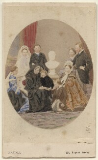 Queen Victoria with her family, by John Jabez Edwin Mayall - NPG Ax46726