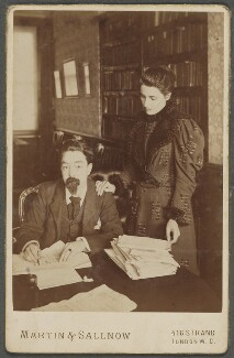 Sidney James Webb, Baron Passfield; Beatrice Webb, by Martin & Sallnow, mid 1890s - NPG P1292(13) - © National Portrait Gallery, London