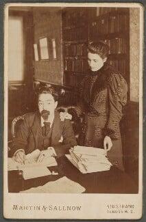 Sidney James Webb, Baron Passfield; Beatrice Webb, by Martin & Sallnow, mid 1890s - NPG P1292(13) - © National Portrait Gallery, London
