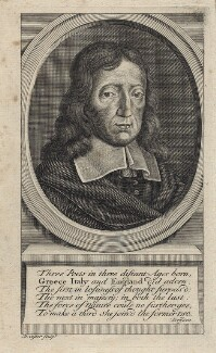 John Milton, by David Coster, early 18th century - NPG D30104 - © National Portrait Gallery, London