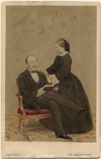 Prince Albert of Saxe-Coburg-Gotha; Queen Victoria, by John Jabez Edwin Mayall - NPG Ax46703