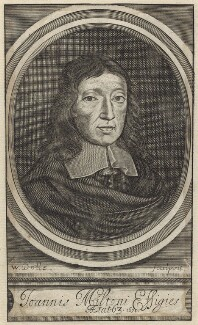 John Milton, by Walter Dolle - NPG D30105