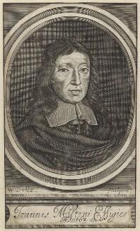 John Milton, by Walter Dolle, published 1672 - NPG D30105 - © National Portrait Gallery, London