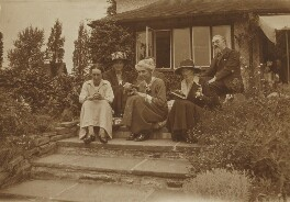 Beatrice Webb; Sidney James Webb, Baron Passfield with three others, by Unknown photographer - NPG P1292(16)