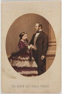 Queen Victoria; Prince Albert of Saxe-Coburg-Gotha, by John Jabez Edwin Mayall - NPG Ax46717