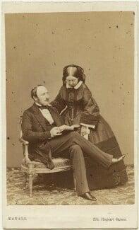 Prince Albert of Saxe-Coburg-Gotha; Queen Victoria, by John Jabez Edwin Mayall, May 1860 - NPG Ax47001 - © National Portrait Gallery, London