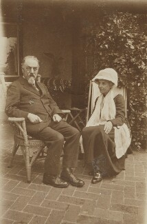 Sidney James Webb, Baron Passfield; Beatrice Webb, by Unknown photographer - NPG P1292(18)