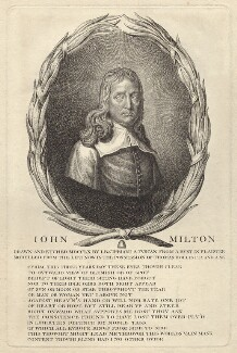 John Milton, by Giovanni Battista Cipriani, after  William Faithorne - NPG D30112