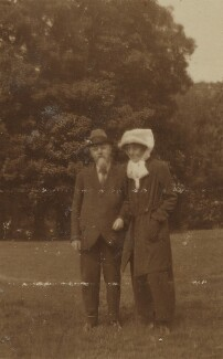 Sidney James Webb, Baron Passfield; Beatrice Webb, by Unknown photographer - NPG P1292(26)
