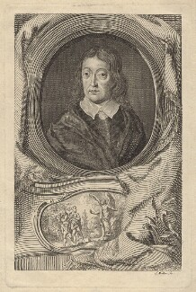 John MIlton, by John Sebastian Miller (formerly Johann Sebastian Müller), after  William Faithorne - NPG D30115