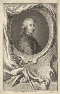 John Dryden, by Jacobus Houbraken, published by  John & Paul Knapton, after  Sir Godfrey Kneller, Bt - NPG D30121