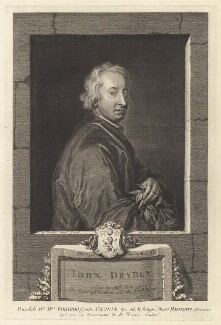John Dryden, by George Vertue, after  Sir Godfrey Kneller, Bt - NPG D30122