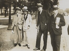 Sidney James Webb, Baron Passfield; Beatrice Webb and two others, by Unknown photographer - NPG P1292(36)