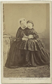 Queen Victoria; Princess Beatrice of Battenberg, by Ghémar Frères, September 1862 - NPG x32970 - © National Portrait Gallery, London