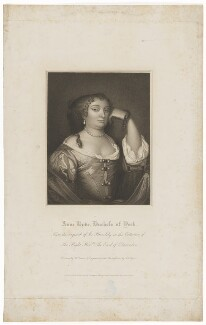 Anne Hyde, Duchess of York, by John Samuel Agar, after  Harold Crease, after  Sir Peter Lely, published 1815 (circa 1670) - NPG D32758 - © National Portrait Gallery, London