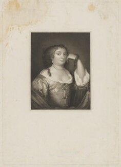 Anne Hyde, Duchess of York, by John Samuel Agar, after  Harold Crease, after  Sir Peter Lely, published 1815 (circa 1670) - NPG D32759 - © National Portrait Gallery, London