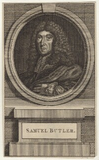 Samuel Butler, after Sir Peter Lely, mid 18th century - NPG D30130 - © National Portrait Gallery, London