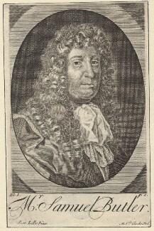 Samuel Butler, by Michael Vandergucht, after  Sir Peter Lely, published 1739 - NPG D30131 - © National Portrait Gallery, London