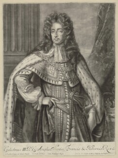 King William III, by William Faithorne Jr, published by  Edward Cooper, after  Sir Godfrey Kneller, Bt - NPG D32764